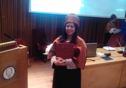 Carla González Uzcátegui PhD thesis defense