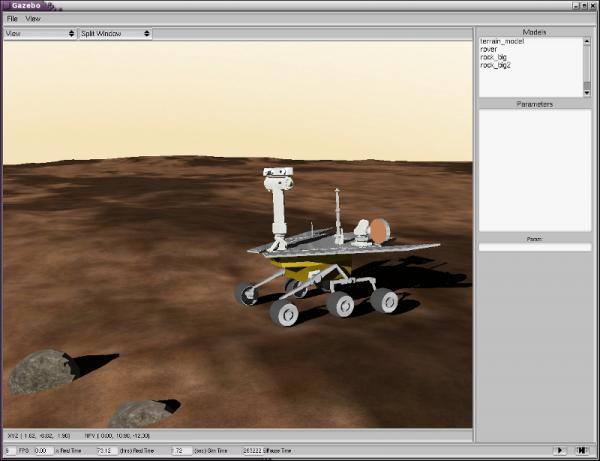MER rover model on Mars, in Gazebo   Robotics Lab - Where Technology