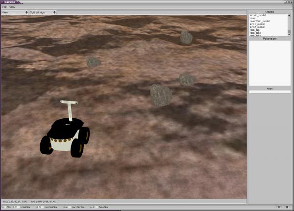 Planetary Rover and Mars Simulation Environment (Gazebo